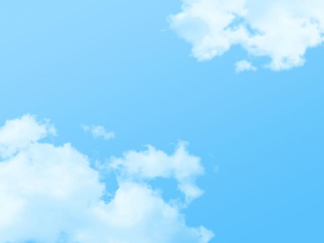 断捨離後のスッキリ感を表す青空
