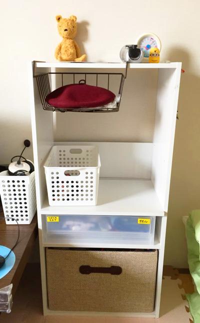 我が家のカラーボックス幼稚園セット